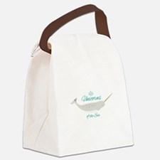 Unicorn Of Sea Canvas Lunch Bag