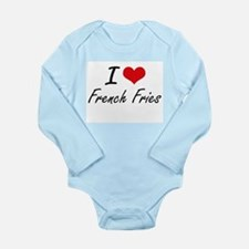 I Love French Fries artistic design Body Suit
