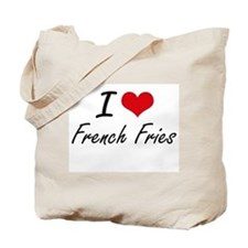 I Love French Fries artistic design Tote Bag