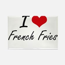I Love French Fries artistic design Magnets