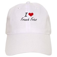 I Love French Fries artistic design Baseball Cap