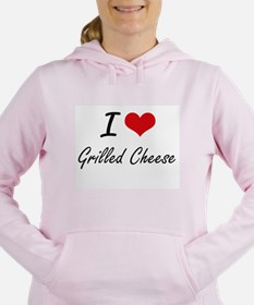 I Love Grilled Cheese ar Women's Hooded Sweatshirt