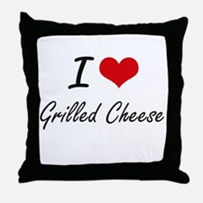 I Love Grilled Cheese artistic design Throw Pillow