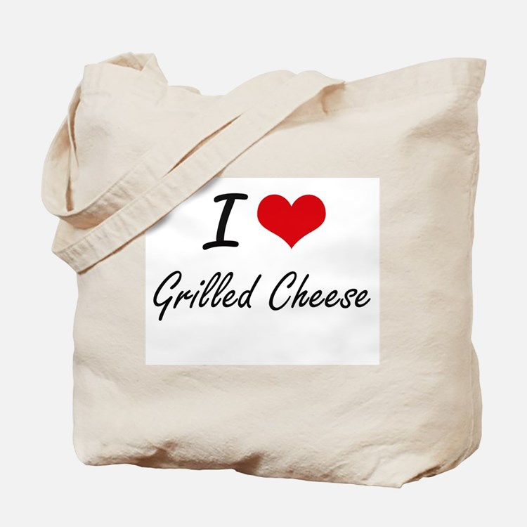 I Love Grilled Cheese artistic design Tote Bag