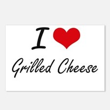 I Love Grilled Cheese art Postcards (Package of 8)