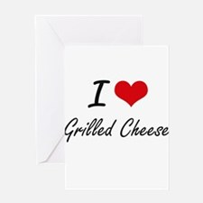 I Love Grilled Cheese artistic desi Greeting Cards