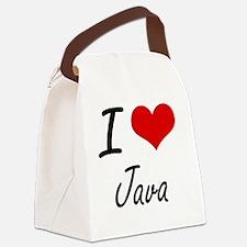 I Love Java artistic design Canvas Lunch Bag
