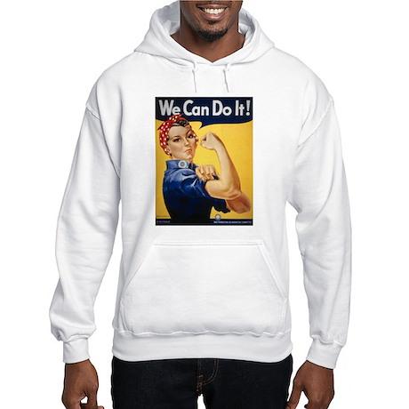 Rosie Riveter We Can Do It (Front) Hooded Sweatshi