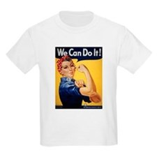 Rosie Riveter We Can Do It (Front) Kids T-Shirt