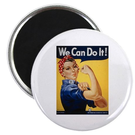 """Rosie Riveter We Can Do It 2.25"""" Magnet (10 pack)"""