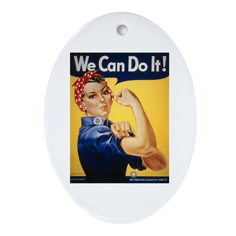 Rosie Riveter We Can Do It Oval Ornament