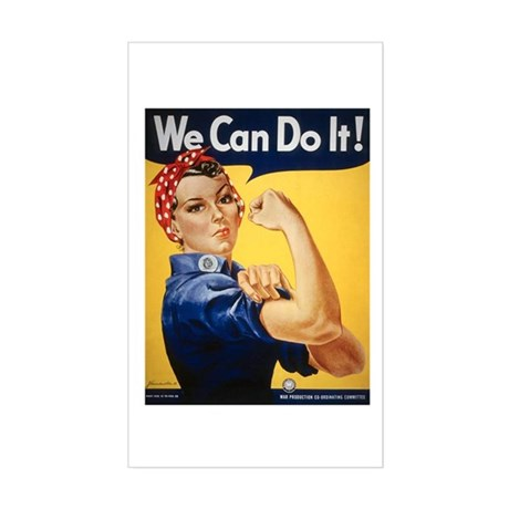 Rosie Riveter We Can Do It Rectangle Sticker