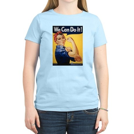 Rosie Riveter We Can Do It Women's Pink T-Shirt