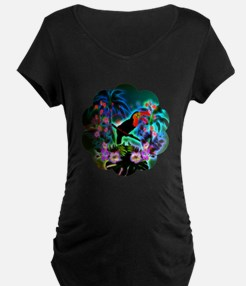 Tropical design Maternity T-Shirt