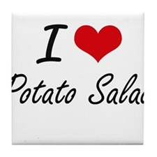 I Love Potato Salad artistic design Tile Coaster