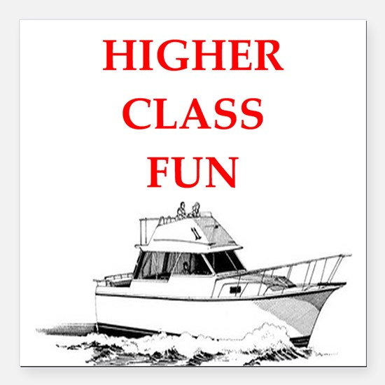 """yacht Square Car Magnet 3"""" x 3"""""""