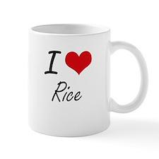 I Love Rice artistic design Mugs