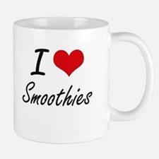 I Love Smoothies artistic design Mugs