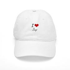 I Love Soup artistic design Baseball Cap