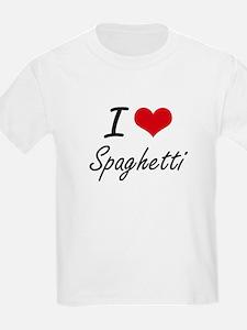 I Love Spaghetti artistic design T-Shirt
