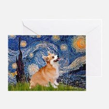 Starry Night Corgi Greeting Card