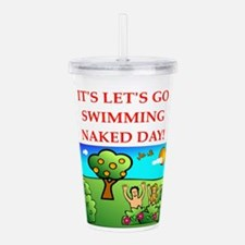 swimming Acrylic Double-wall Tumbler