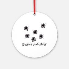 Redneck Ventilation Ornament (Round)