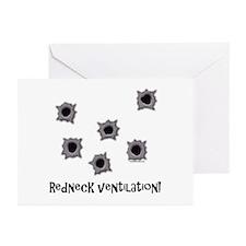 Redneck Ventilation Greeting Cards (Pk of 10)
