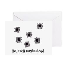 Redneck Ventilation Greeting Card