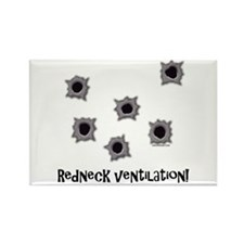 Redneck Ventilation Rectangle Magnet