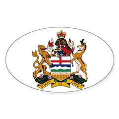 Alberta Coat of Arms (Big) Oval Decal
