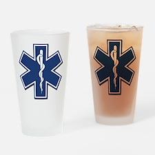 EMS EMT Rescue Logo Drinking Glass