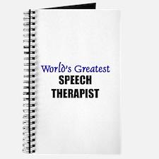 Worlds Greatest SPEECH THERAPIST Journal