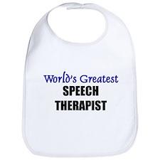 Worlds Greatest SPEECH THERAPIST Bib