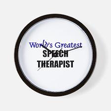 Worlds Greatest SPEECH THERAPIST Wall Clock