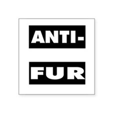 "Cute Anti vegan Square Sticker 3"" x 3"""