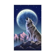 Howling Wolf 1 Rectangle Decal
