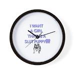 Slut Puppy Wall Clock!!
