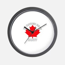 I'd Rather Be in Banff Wall Clock