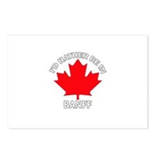 I'd Rather Be in Banff Postcards (Package of 8)