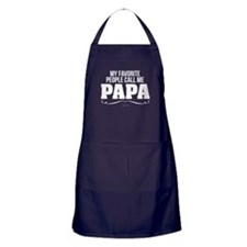 Papa Favorite People Apron (dark)