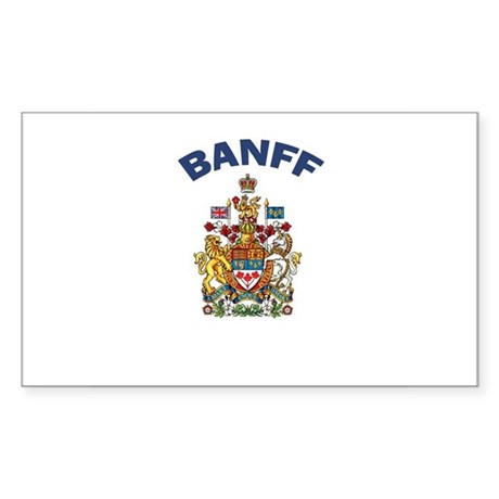 Banff Coat of Arms Rectangle Sticker