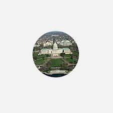 Capitol Hill Aerial Photograph 2 Mini Button