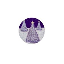Night Fantasy Christmas Trees Mini Button