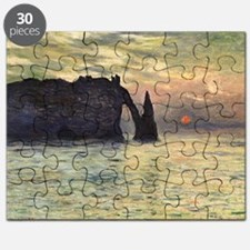 Claude Monet, Cliff Etretat Sunset Puzzle