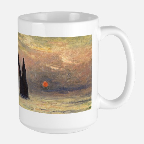 Claude Monet, Cliff Etretat Sunset Mugs