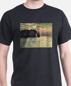 Claude Monet, Cliff Etretat Sunse T-Shirt