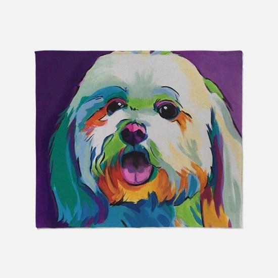 Dash the Pop Art Dog Throw Blanket