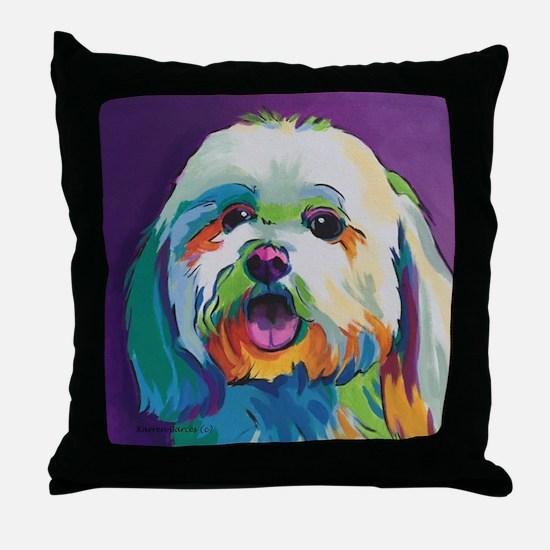 Dash the Pop Art Dog Throw Pillow