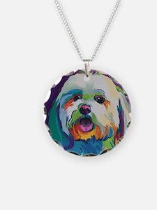 Dash the Pop Art Dog Necklace